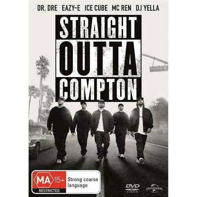 Straight Outta Compton - DVD Region 4 -AUS PAL MA15+ BRAND NEW SEALED - Dr Dre