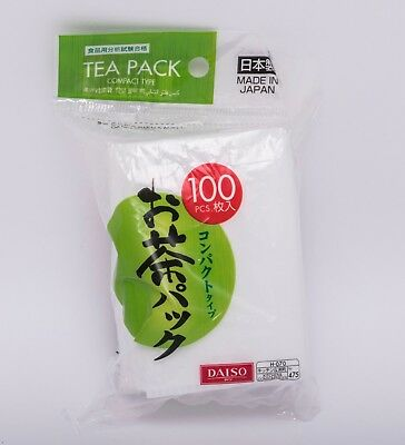 Daiso Japan Green Tea Pack Empty Tea Leaf Filter Compact Type 100 pcs Japan Made