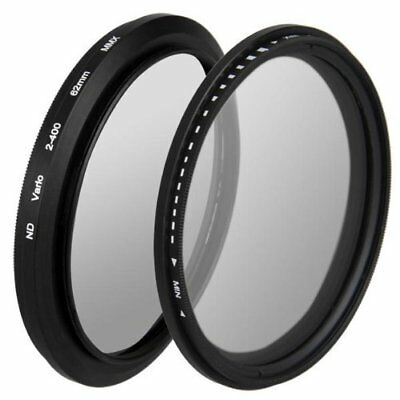 Filtro Ajustable Neutral Fader ND para ND2 A ND400 62 mm Nuevo
