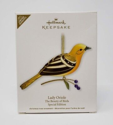 Lady Oriole 2011 Hallmark Ornament Limited Beauty of the Birds Leaves Berries