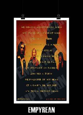 Alice In Chains NUTSHELL Jar Of Flies Unplugged Song Lyrics Art Poster Print