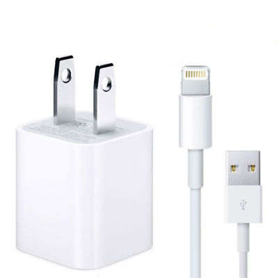 Original Lightning Wall Charger Adapter USB Cable For Apple iPhone X 8 7 6 Plus