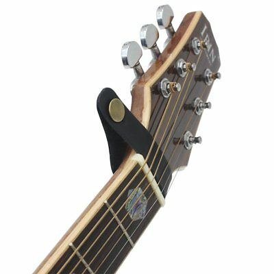 1PC Folk Classical Guitar Headstock Leather Neck Strap with Metal Fastener XW