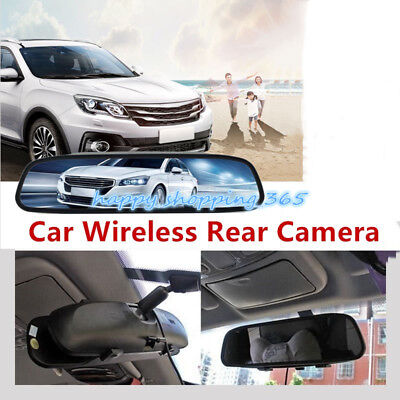 Car Wireless Rear Camera View Mirror Backup Reverse LCD Monitor Night Vision 4.3