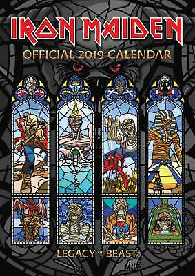 Iron Maiden Official A3 Calendar 2019 Entertainment Month To View