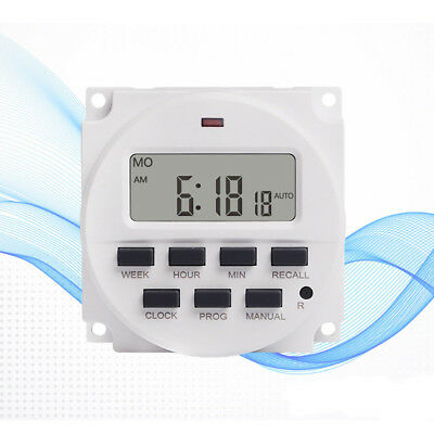 7 Day Heavy Duty Digital Programmable Timer LCD Power Time Control Switch Relay