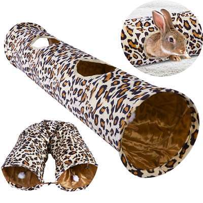 Pet Cat Funny Toys Tunnel Leopard Print Crinkle Toys Cat Collapsible Tunnels AU