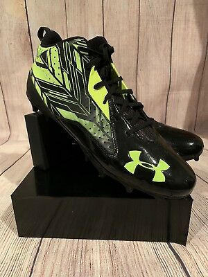 NEW Under Armour UA Ripshot Mid MC 1264191-007 Sneaker Cleats 12.5 New