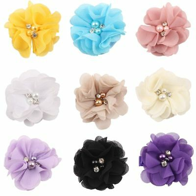 5Pcs Baby Hair Chiffon Flower Clips Newborn Hair Clips Hair Accessories Girls