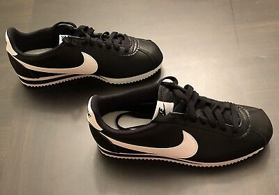 2a2409222d80e ... new zealand womens nike cortez black white leather size 8 39 worn once  slight defect c7602