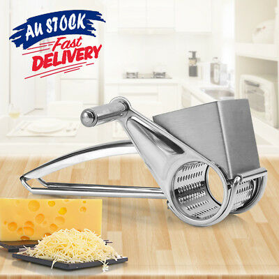 Stainless Steel Multifunction 4 Set Hand Held Cut Slicer Rotary Cheese Grater