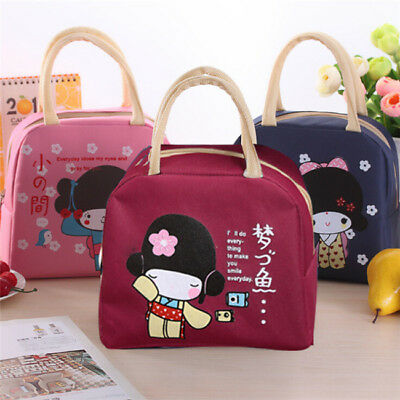 Japan Girl Lunch Bag Thermal Insulated Portable Food Storage Picnic Tote Bag Z