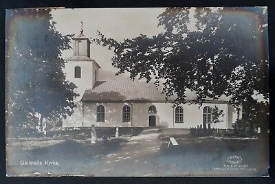 "RARE 1936 Sweden Postcard ""Gällstad Church"" ties 20 öre stamp canc Vegby"