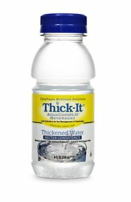 Thick-It Aquacare H2O Nectar Consistency Thickened Water Beverage, 8 Ounce (24)
