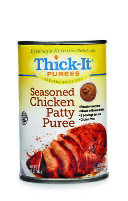 Thickener Thick-it 14 Oz. Seasoned Chicken Patty Puree H318-f8800 Box Of 12