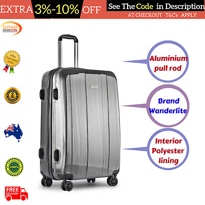 """28"""" Travel Luggage Light Weight Hard Shell Cabin Suitcase 4 Wheel Bag Trolley AU"""