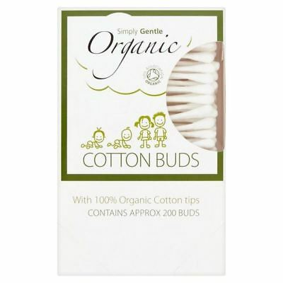 2x Simply Gentle Organic Cotton Buds 200 per pack