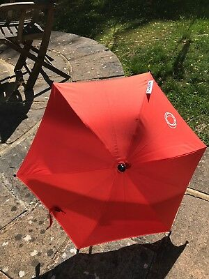 Red Bugaboo UV Parasol in perfect condition