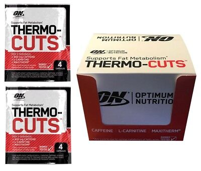Optimum Nutrition Thermo Cuts Fatburner 24 x 4 Capsules Weight Loss BBE 05/2018