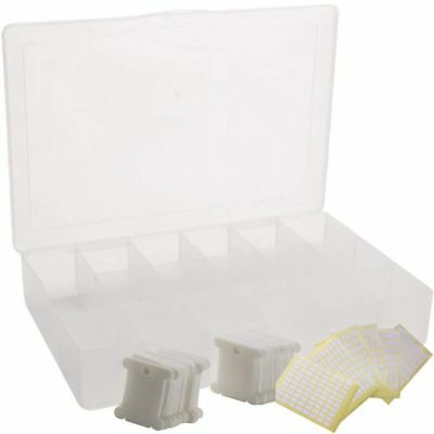 Embroidery Floss Organizer Box - 17 Compartments with 100 Hard Plastic Flos I7S6