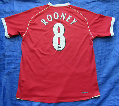 8144ce8b3 WAYNE ROONEY  8 MANCHESTER UNITED home jersey shirt NIKE 2006-2007 men SIZE  L