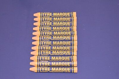 12 Markal Tyre Marque Crayon Yellow Tire Rubber Glass Metal Auto Repair Marker