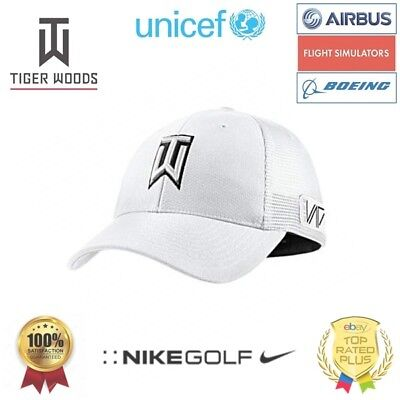 [UNICEF] TIGER WOODS GOLF CAP M/L WHITE Nike Golf Hat TW Kappe Weiß