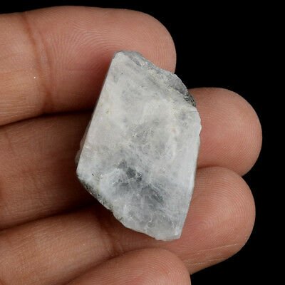 Egl Certified Natural 31 Ct. Iceland White Rainbow Rough Loose Gemstone V-5898