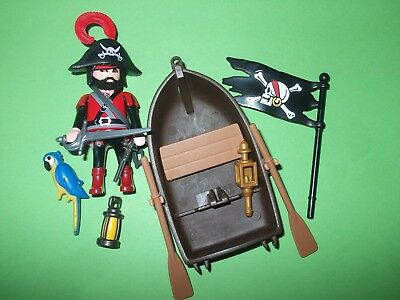 Playmobil ® Piraten Figur mit Boot / Beiboot für Piratenschiff / Pirateninsel