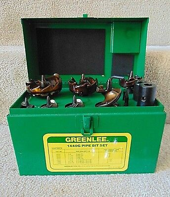 "Greenlee Tool - #1440G Pipe Bit Set - 3/8"" To 2"" - Standard Pipe Or Conduit Dia"