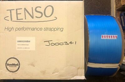 Tenso, High Performance Strapping, Blue, 12.0 x 0.63mm x 3000mt.