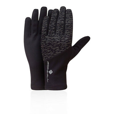 RonHill Unisex Afterlight Gloves Black Sports Running Breathable Reflective