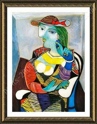 Marie Therese Walter by Pablo Picasso | Framed canvas | Wall art print poster