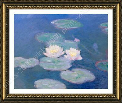 Water Lilies by Claude Monet | Framed canvas | Wall art oil painting poster HD