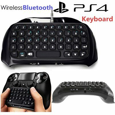 PlayStation for PS4 Bluetooth Wireless Keyboard Chatpad Controller GamePad BlaK#