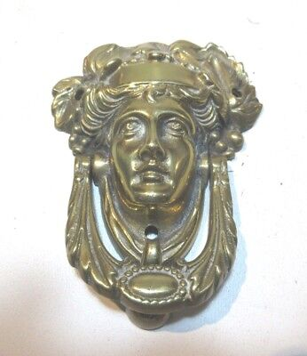 Vintage Brass Door Knocker Greek Roman God Bacchus Dionysus