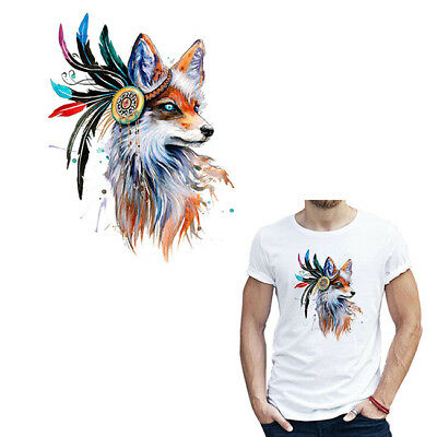 Unique Heat Transfer Colorful Fox Patch DIY Accessory Cloth Washable Appliqued Z
