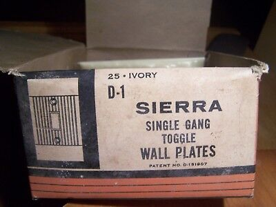 Vintage Antique Sierra Electric D - 1 Single Gang Toggle Wall Plates