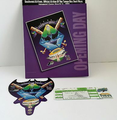 Tampa Bay Devil Rays 1998 Opening Day Baseball Tickets Limited Edition Holder
