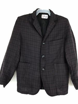 True Vintage 50's Boys Toddler Plaid Blazer Barry Boy