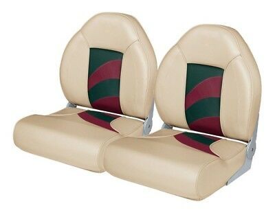 2 NEW KHAKI/RED/GREEN WISE HIGH BACK BOAT SEATS  *Free Shipping*