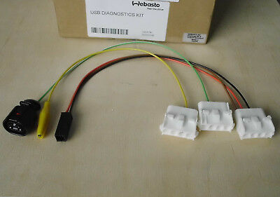 3x Steckadapter PC Diagnose Interface Webasto Thermo 50 90 S ST Top EVO Uhr 1533