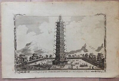 CHINA NANKING by SPARROW XVIIIe CENTURY UNUSUAL ANTIQUE ENGRAVED VIEW