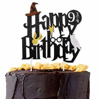Harry Potter Happy Birthday Cake Topper Bunting Party Decoration Anniversary Toy