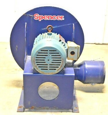 Spencer Scroll Blowers, Single-stage Centrifugal Blowers,M-0503 SSC 1400 CFM 5HP