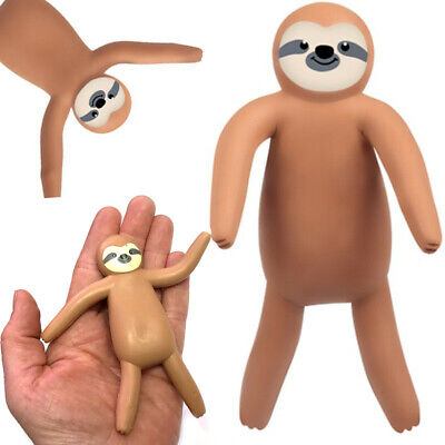 Bendy Sloth Figure Girls Boys Cute Bendable Toy Gift Birthday Party Bag Filler
