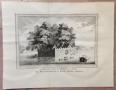 China Canton The Watercastle 1749 Bellin-Schley Nice Antique Engraved View