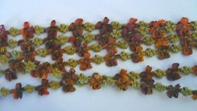 """18"""" Silk V  French Buds Bows Ribbon Antique All Bisque Mignonette Doll Dress"""