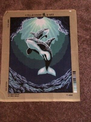Killer Whale Tapestry Canvas - Collection D'art