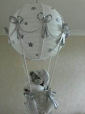 STARRY NIGHT Hot Air Balloon Light Shade in silver grey   Made to Order